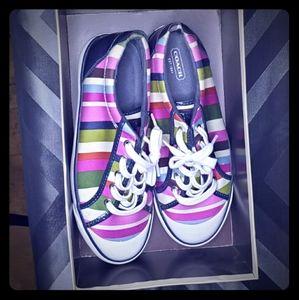 COACH- multi striped - sz 9 sneakers